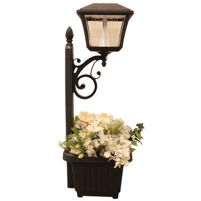 Gama-Sonic-4-Light-LED-Solar-Path-and-Garden-Light-with-Planter-GS-111PL